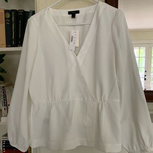New J Crew wrap blouse